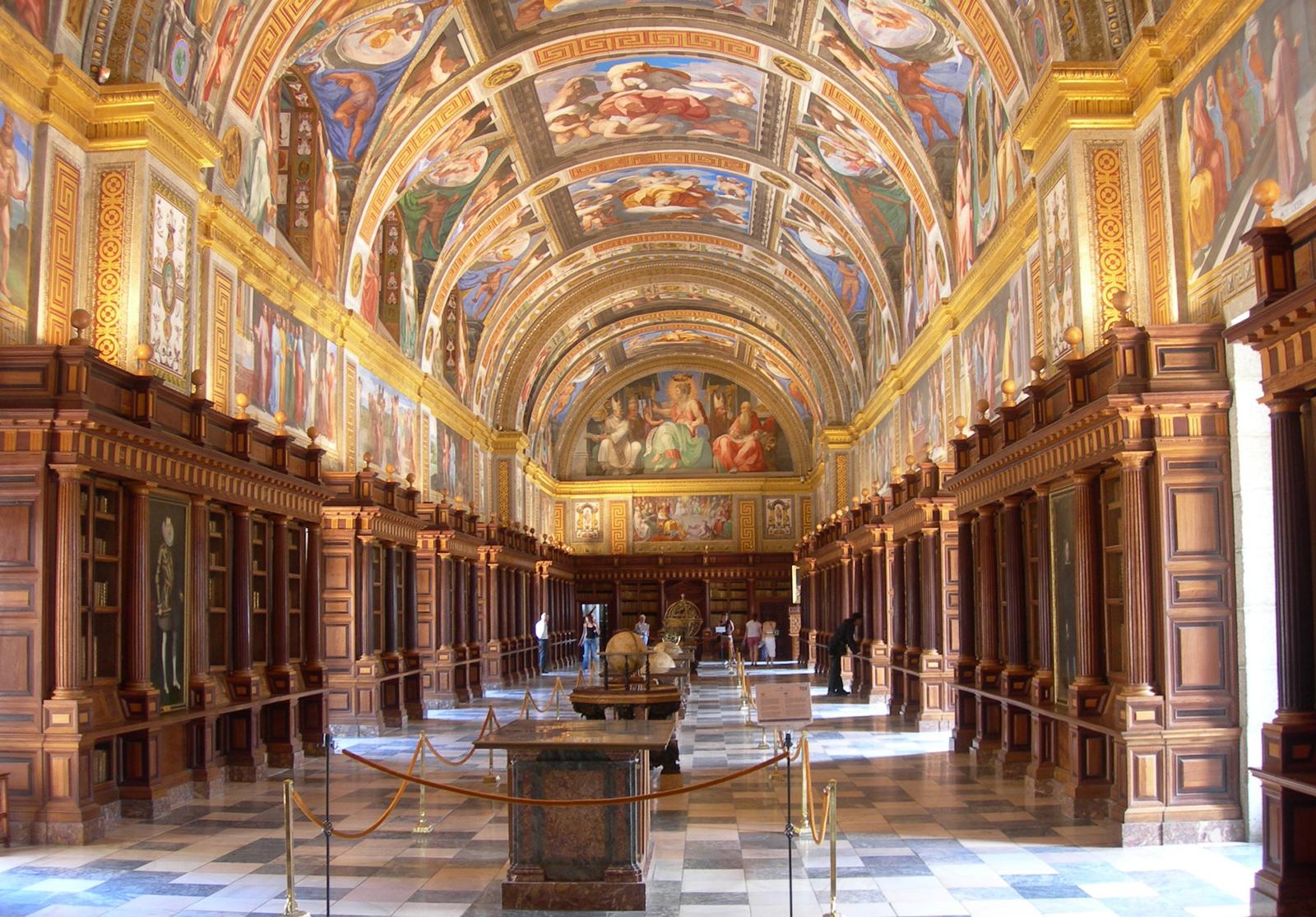 Library of the Royal Site of San Lorenzo de El Escorial, Spain