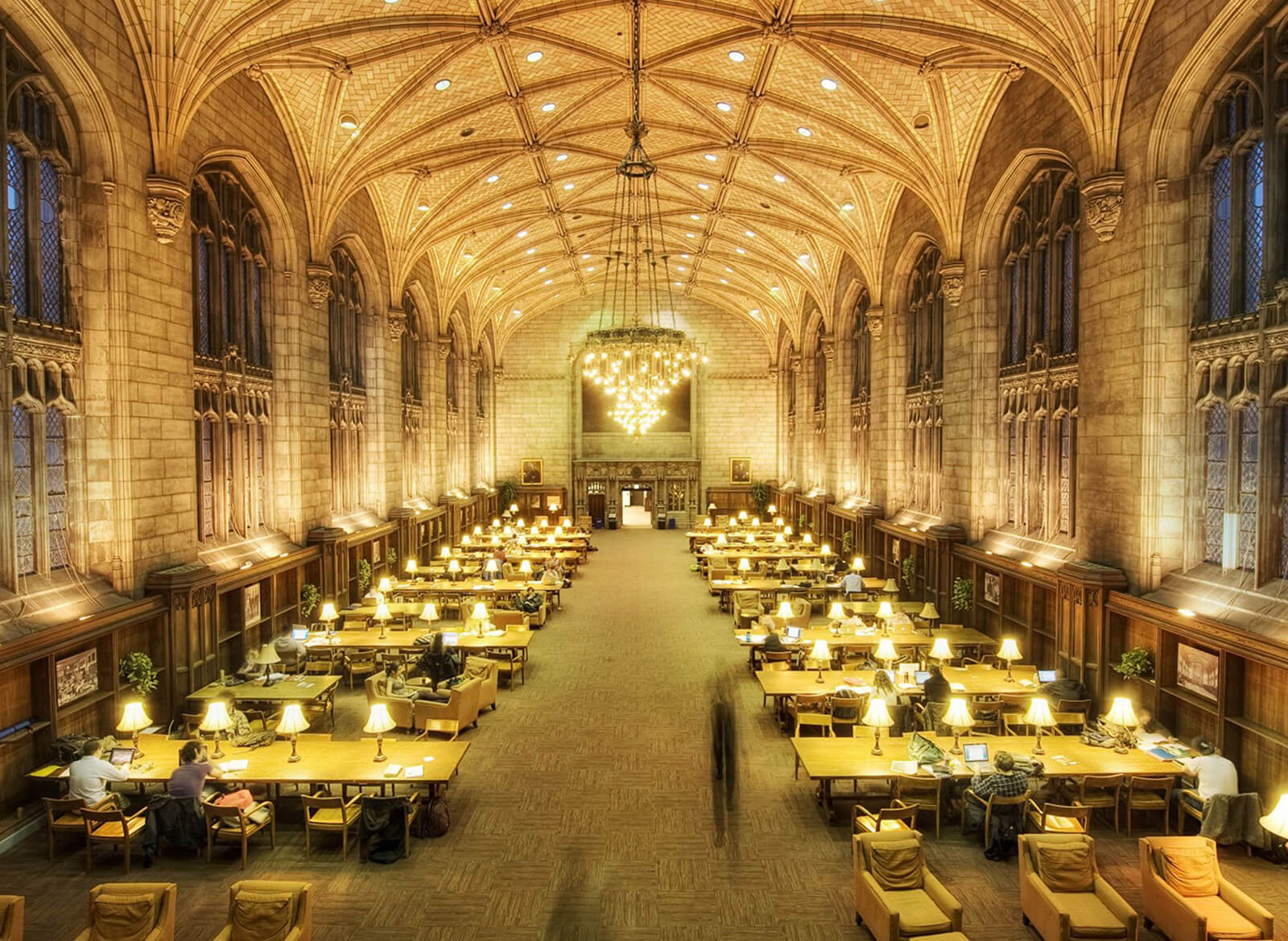 The Harper Library Reading Room, University of Chicago, Chicago, IL