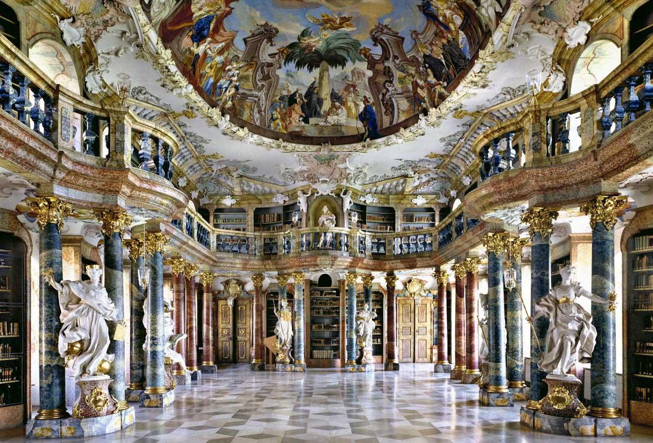 Wiblingen Monastary Library, Ulm, Germany