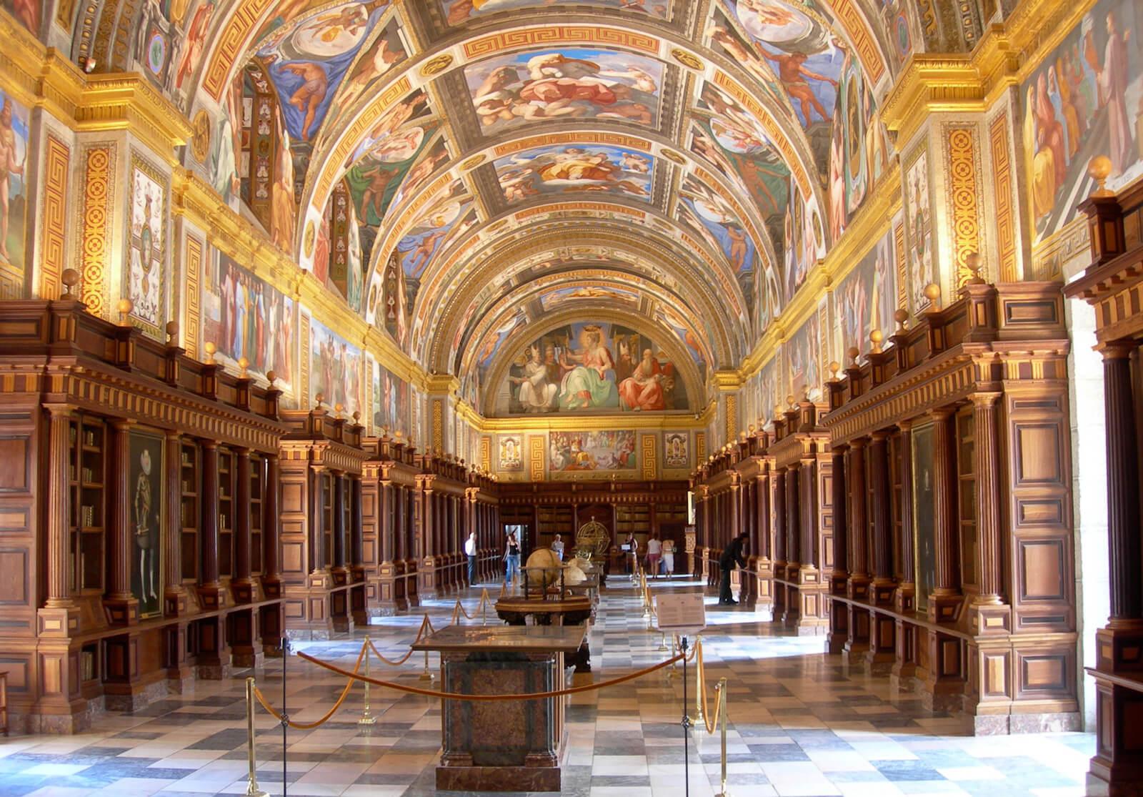 Library of the Royal Site of San Lorenzo de El Escorial Spain