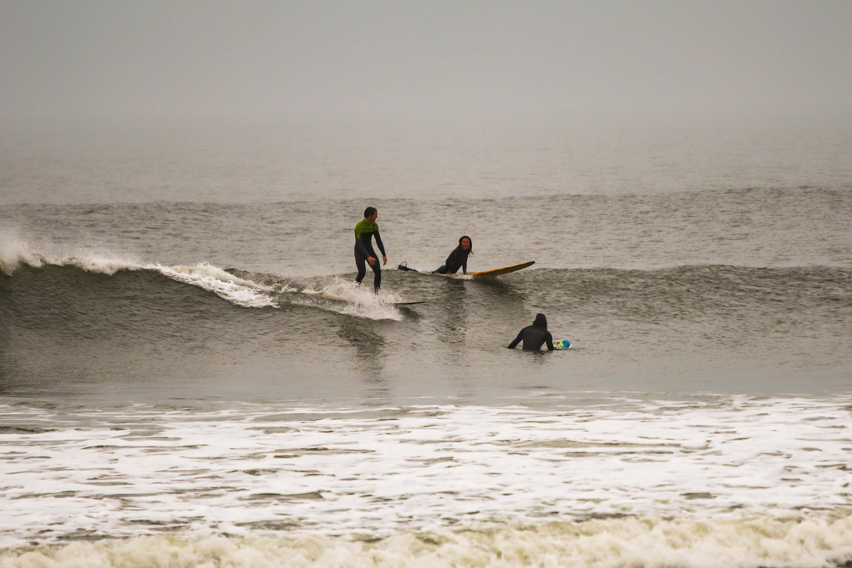 Family photo surfing