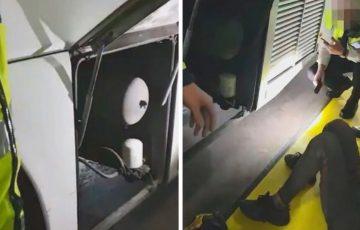 Dublin port: w silniku autobusu znaleziono... dwóch imigrantów z Maroka [WIDEO]
