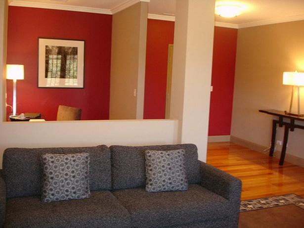 Wohnzimmer Rot Grau Beige