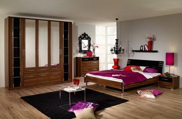 Schlafzimmer nussbaum schwarz