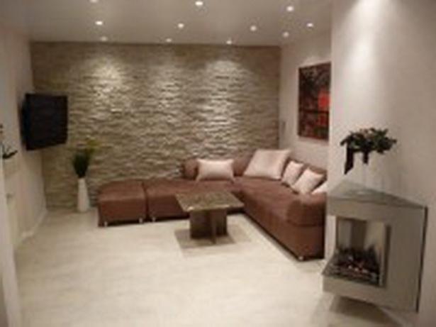 Steinmauer wohnzimmer
