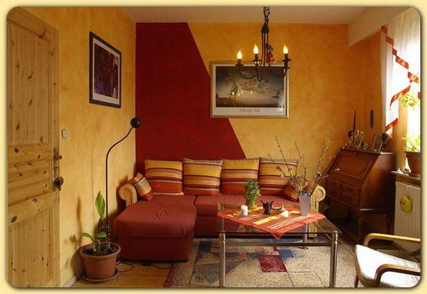 Wandfarben beispiele wohnzimmer