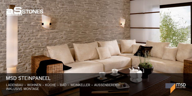Wandsteine fr wohnzimmer