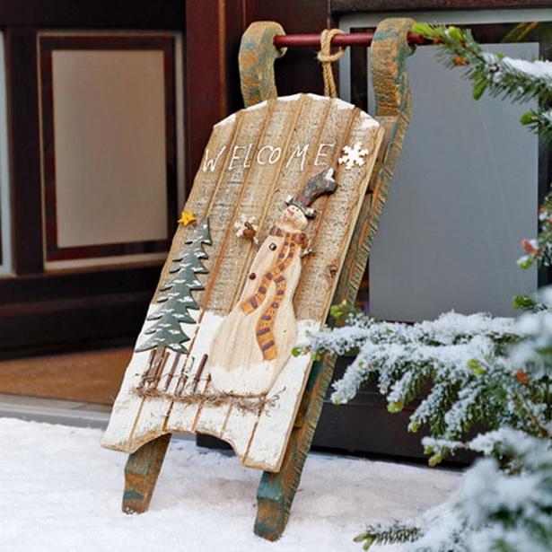 Weihnachtsdeko im landhausstil