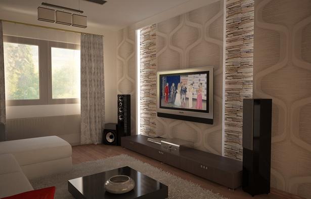 Wohnzimmer wei braun