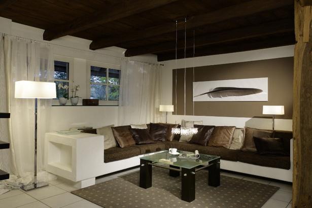 Raumgestaltung Wohnzimmer Braun