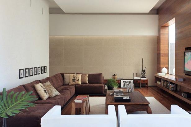 Wohnzimmergestaltung braun