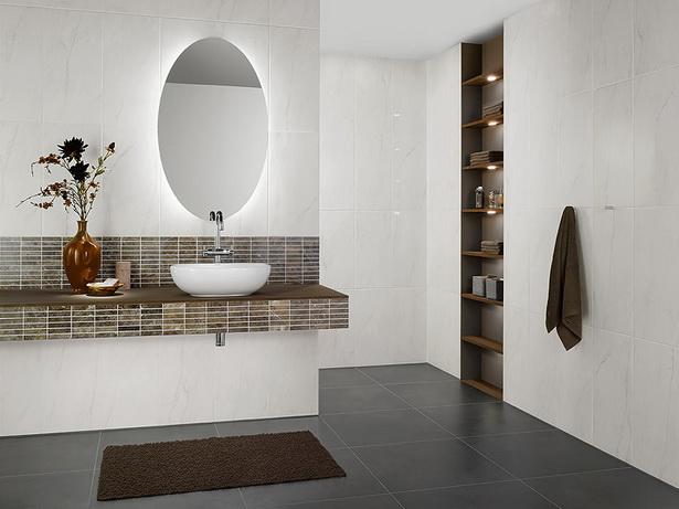 Badezimmer Modern Grau Wei