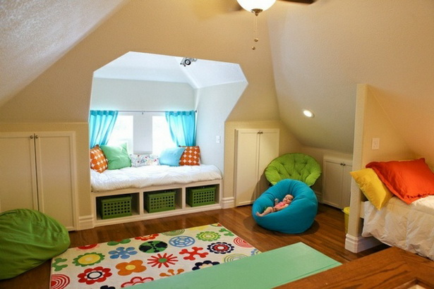 Kinderzimmer mit dachschrge gestalten