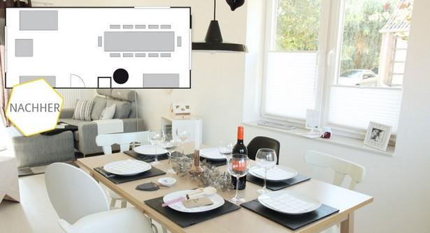 Wohnzimmer mit essecke einrichten