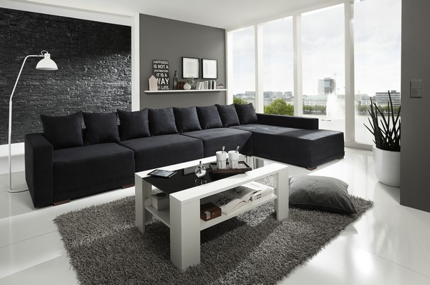 Wohnzimmer Couch Schwarz