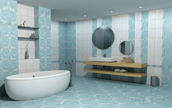 Badezimmer fliesen blau