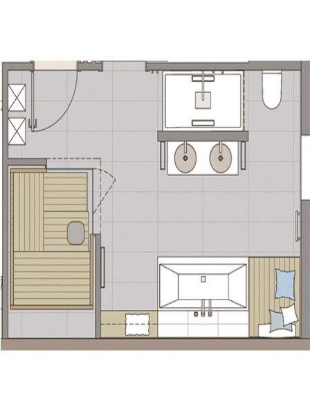 Badezimmer sauna ideen