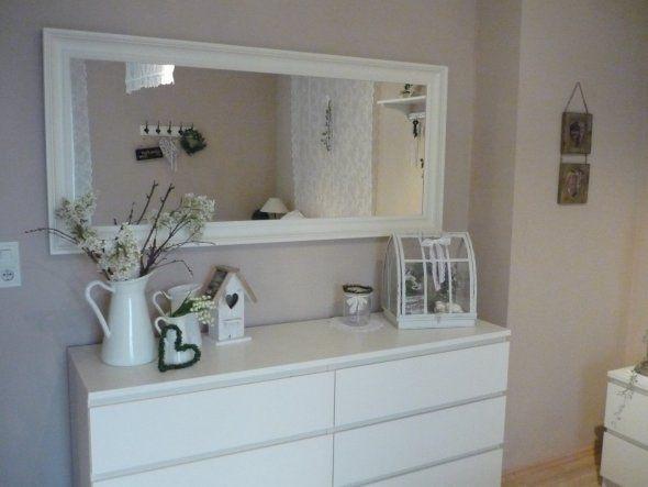 deko spiegel wohnzimmer  bastelideen mit wolle bommel