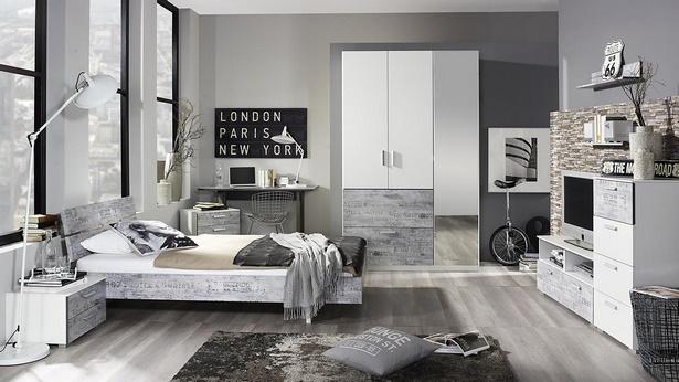 Jugendzimmer grau wei