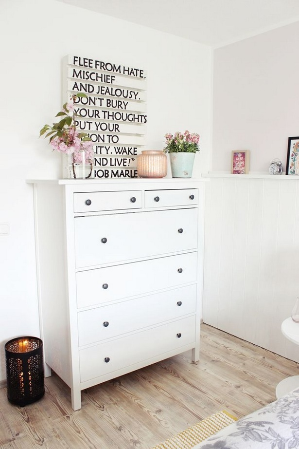 Schlafzimmer kommode dekorieren