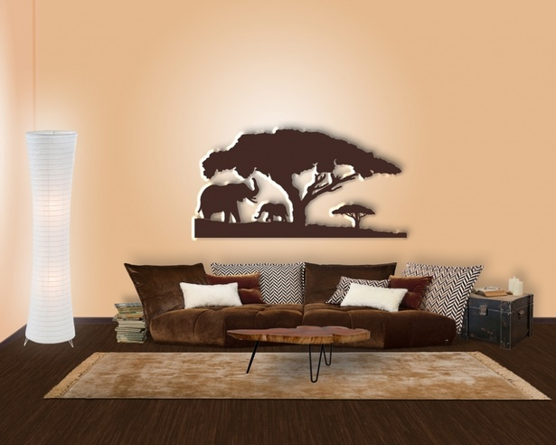 Wanddeko wohnzimmer modern