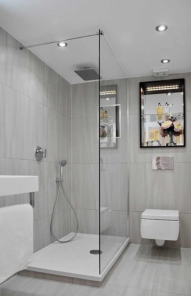 Ebenerdige duschen fr kleine bder