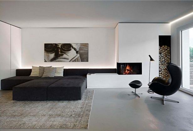 Wohnzimmer ideen schwarz wei