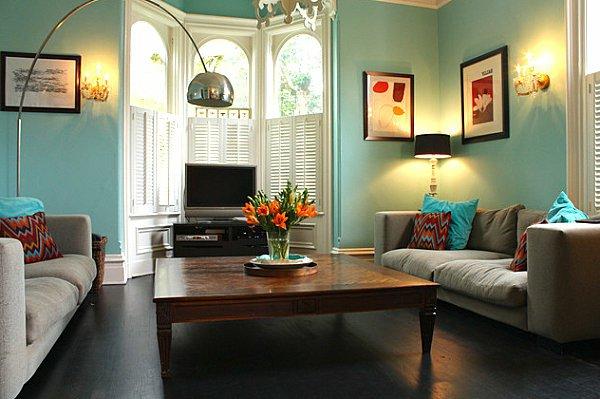 Wohnzimmergestaltung farbe ideen