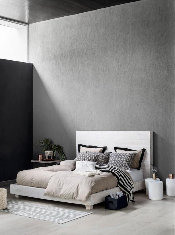 Schlafzimmer gestalten grau wei
