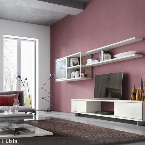 Wandanstrich ideen wohnzimmer