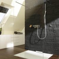 Badgestaltung kleines bad mit dachschrge