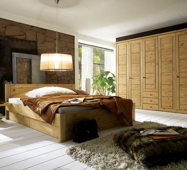 Moderne schlafzimmer aus holz