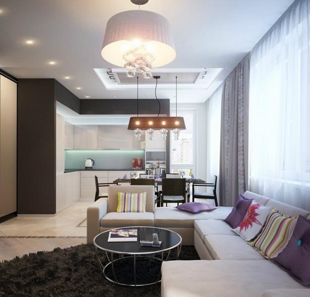 Wohnzimmer Mit Offener Kche