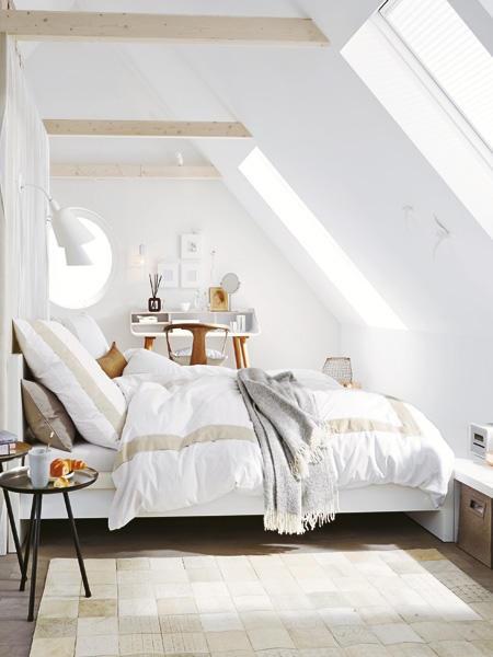 Kleines schlafzimmer mit dachschrge gestalten