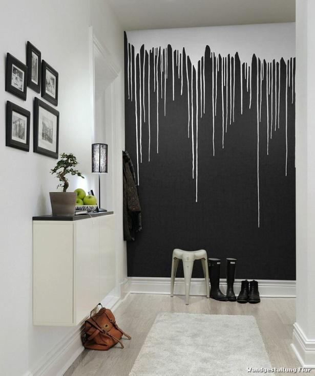Wandgestaltung flur beispiele