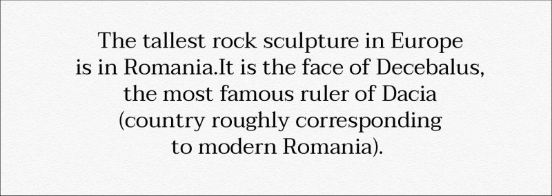 Did you know that? Decebalus - the tallest rock sculpture of Europe