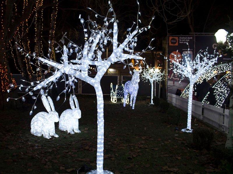 Christmas Fair in Chisinau, Moldova | Sculptures at the Orange Christmas Fair