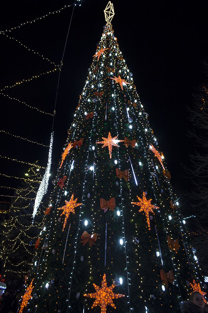 Christmas Fair in Chisinau, Moldova | Christmas tree at Orange Christmas village