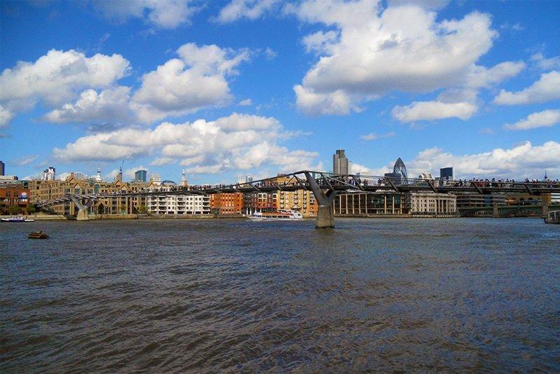 Бесплатные достопримечательности Лондона | Мост Миллениум