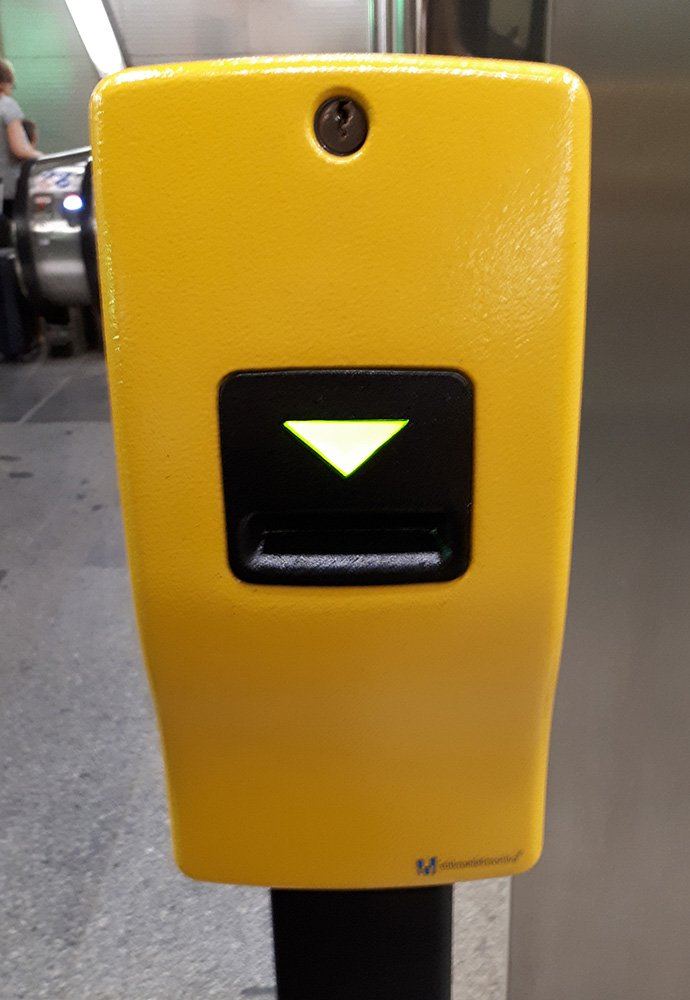 Boxes to validate tickets