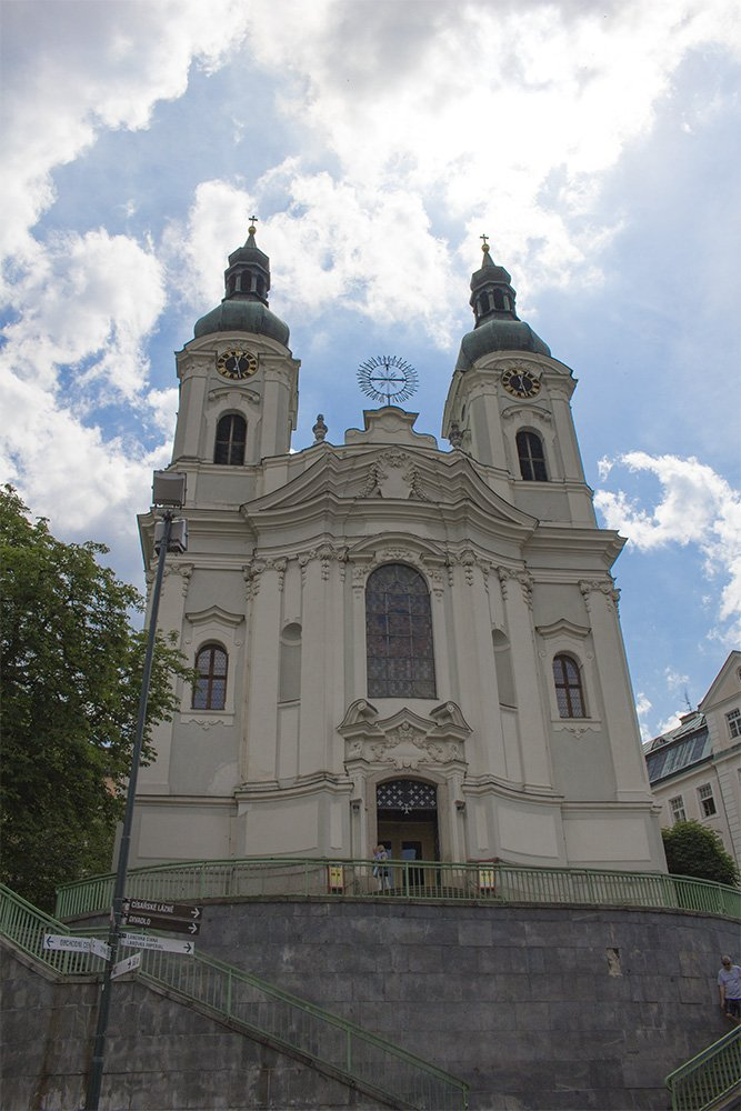 A day trip from Prague: what to do in Karlovy Vary | Church of Mary Magdalene