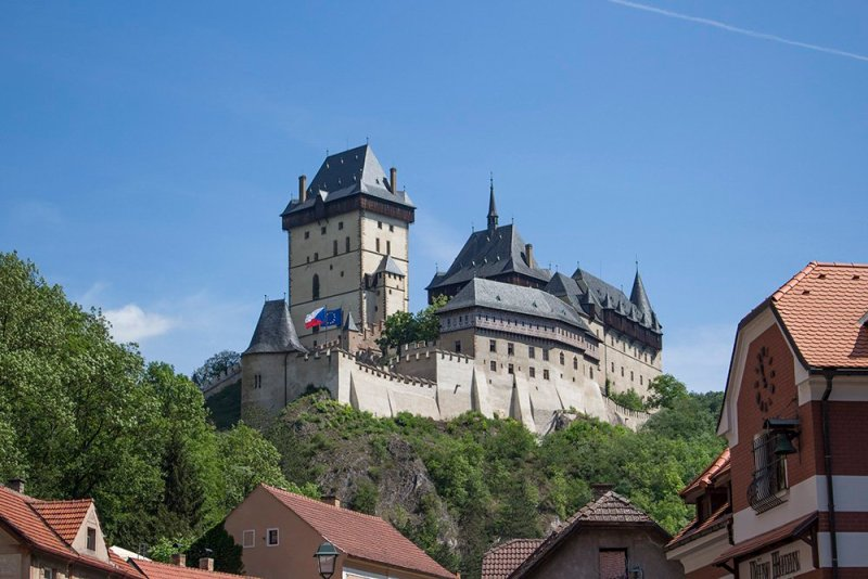 From Prague to Karlstejn Castle, Czech Republic