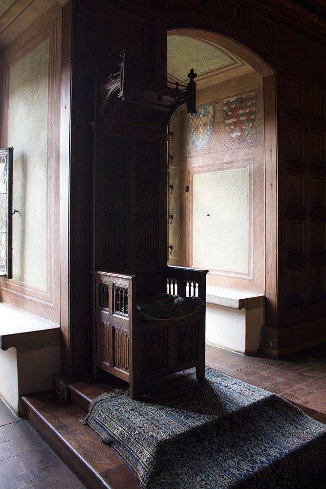 From Prague to Karlstejn Castle, Czech Republic | King's chair in Karlstejn Castle
