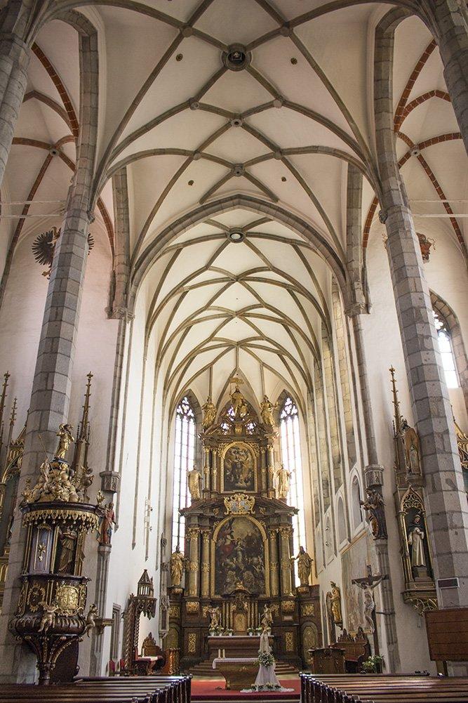 A day trip from Prague to Cesky Krumlov Castle   Inside St Vitus Church