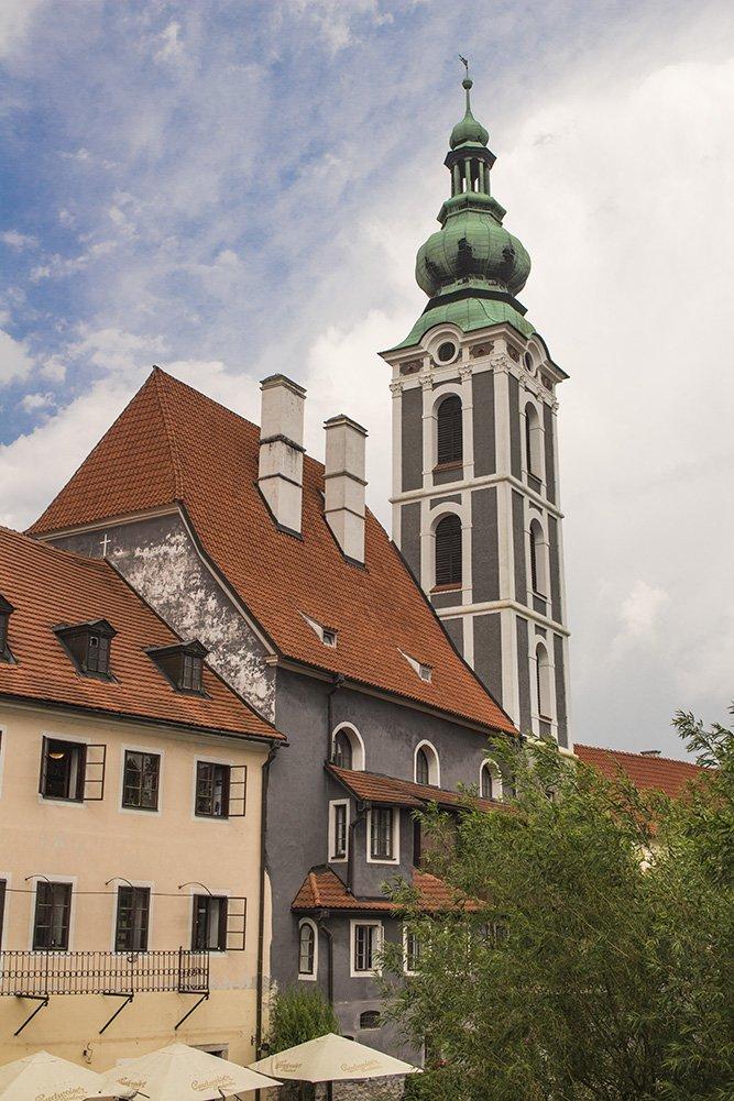 A day trip from Prague to Cesky Krumlov Castle   St Jost Church