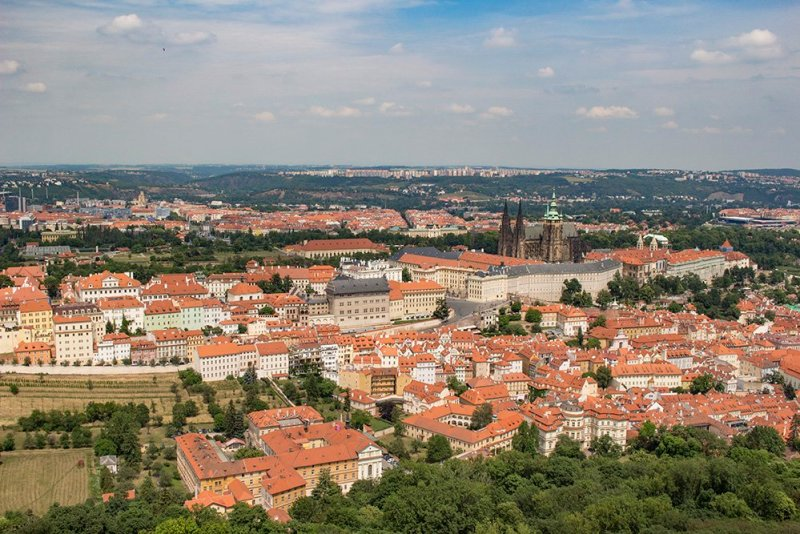 View from Petrin Tower in Prague