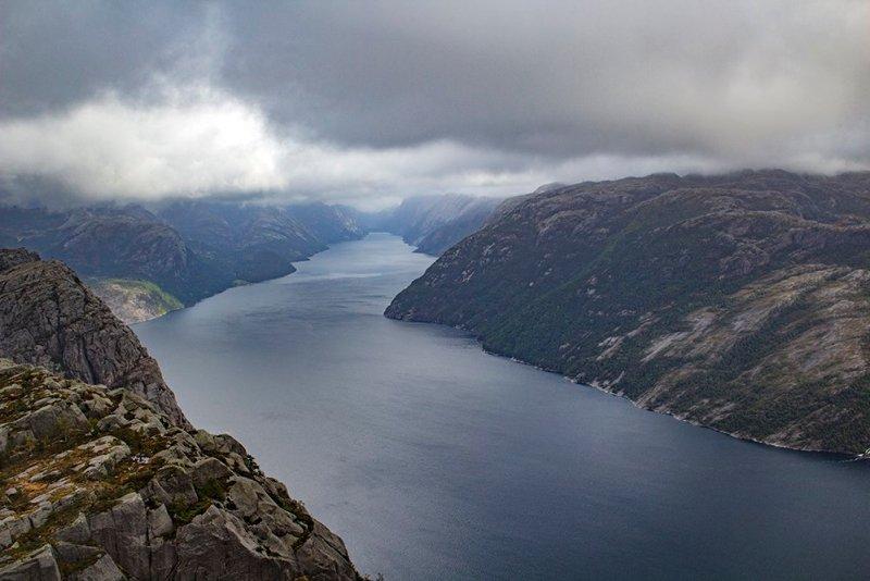 Preikestolen hike | View of Lysefjord from Preikestolen