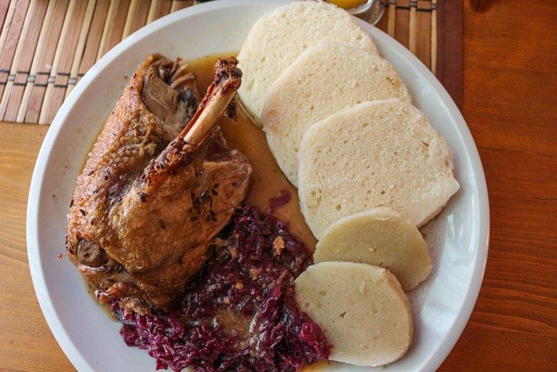 Чешская кухня: Запеченная утка