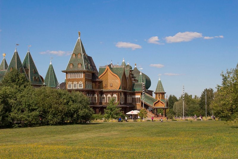 The wooden palace in Kolomenskoye in Moscow