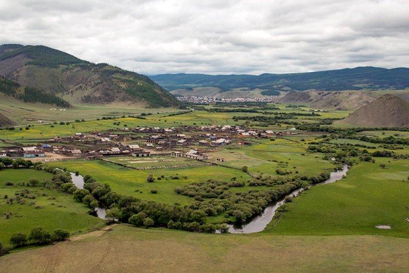 The view from Sakhyurte Mountain